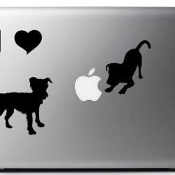 I LOVE DOGS - Vinyl Laptop decal