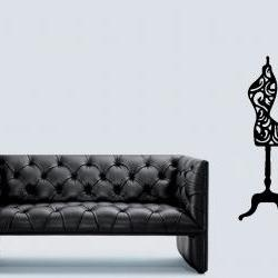 The Fashion Collection - Decorative Mannequin Wall Decal - UK Seller