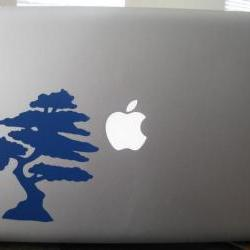 Vinyl Decal. Laptop or wall. Japaneses Bonsai Tree